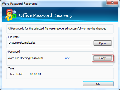Office 2010 password recovery