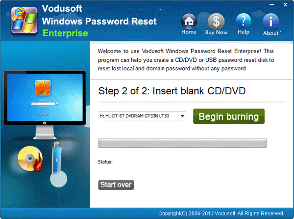 Step 3 Insert Windows Password Reset Boot Disk To The Locked Computer And Restart Note You Must Set From USB Flash